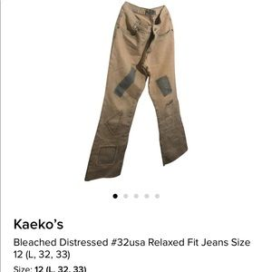 Denim - Bleached stressed jeans